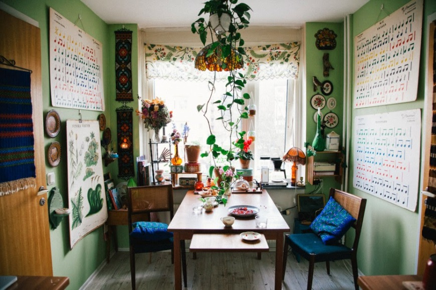 nor toma house bohemian dining room